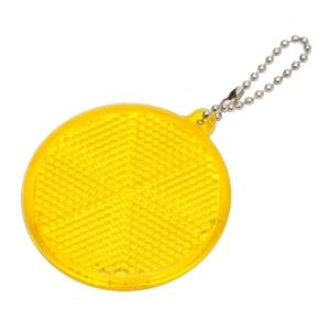 Światełko odblaskowe Circle Reflect, żółty