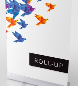 Roll-up firmowy z logo, druk