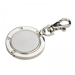 Wieszak na torebkę z karabińczykiem Shine, srebrny