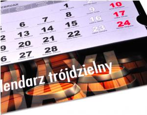 kalendarze trójdzielny z logo