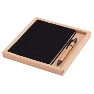Zestaw Porto - notes z długopisem, czarny