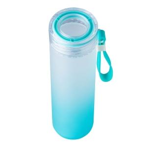 Butelka szklana Invigorate 400 ml, jasnoniebieski