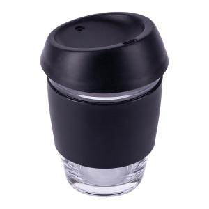 Szklany kubek Stylish 350 ml, czarny