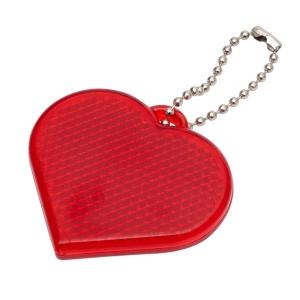 Światełko odblaskowe Heart Reflect, czerwony