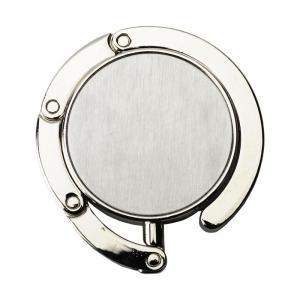Składany wieszak na torebkę Glamour, srebrny