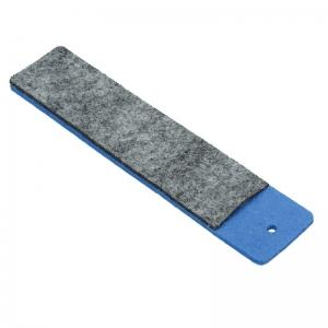 Etui z filcu na długopis, niebieski/szary
