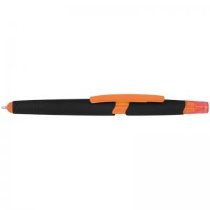 Plastikowy długopis z zakreślaczem