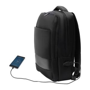 Plecak dwukomorowy na laptop Oxnard, czarny