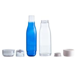 Butelka szklana z osłoną Smart 520 ml, niebieski