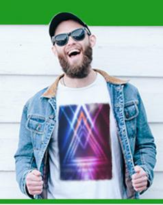 T-shirt unisex z nadrukiem Full Color