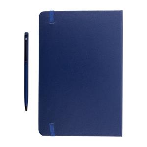 Zestaw notes z długopisem, granatowy