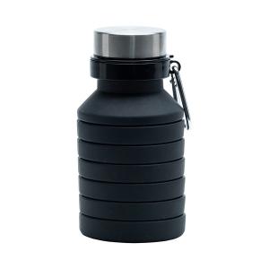 Składany bidon sportowy Makalu 550ml, czarny