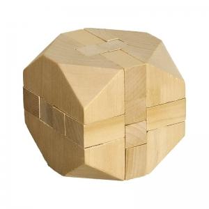 Układanka logiczna Cube, brązowy